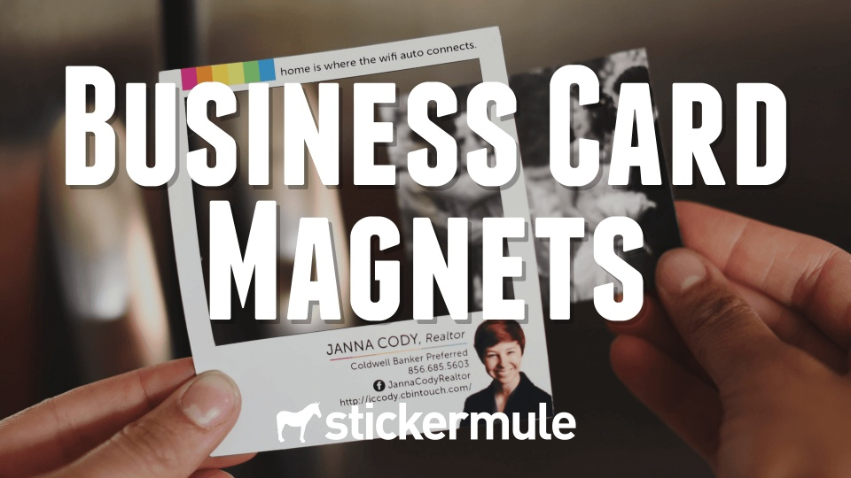 Business card magnets - Sticker Mule