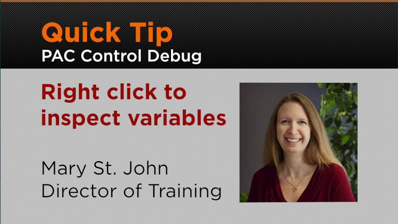 PAC Control - Quick Tip - Right Click to Inspect Variables