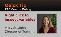 PAC Control Debug: Right Click to Inspect Variables