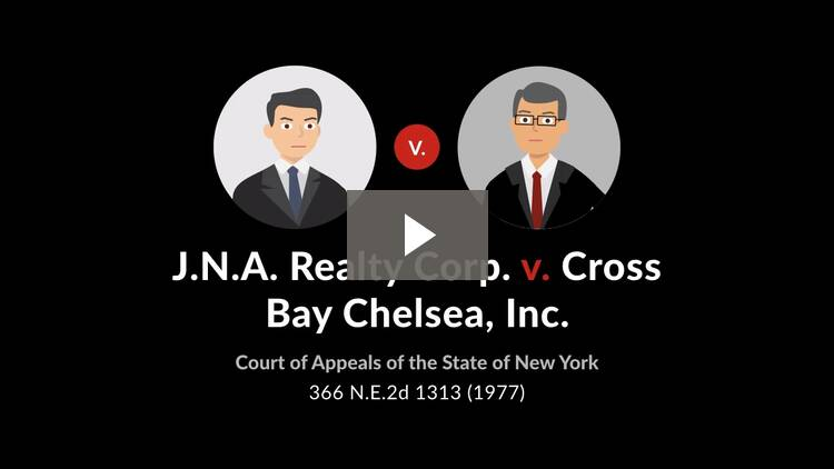 J.N.A. Realty Corp. v. Cross Bay Chelsea, Inc.