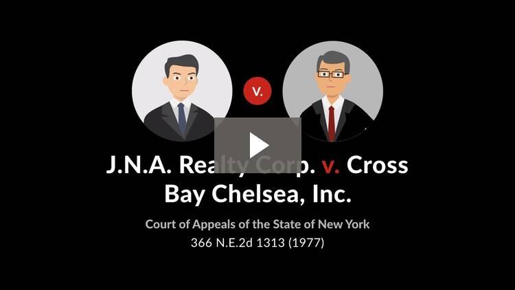 J.N.A. Realty Corp. v. Cross Bay Chelsea, Inc.