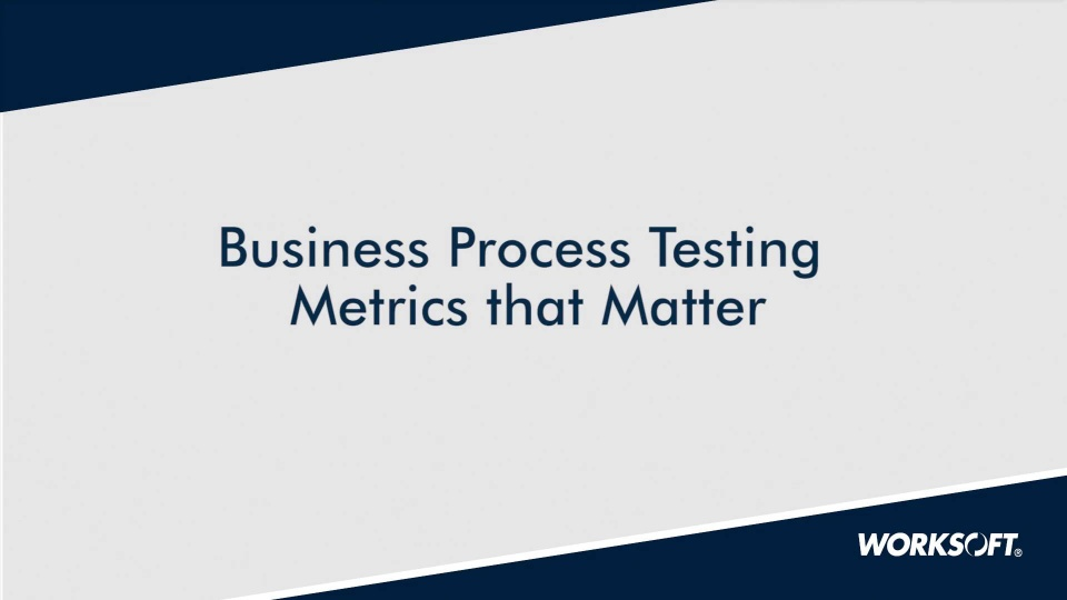 Test Automation Metrics that Matter
