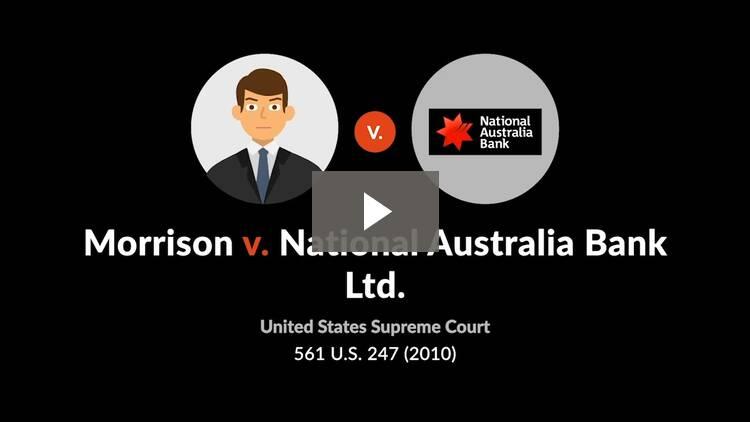 Morrison v. National Australia Bank, Ltd.