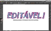 Tipografia com Pincéis 04 - Texto editável