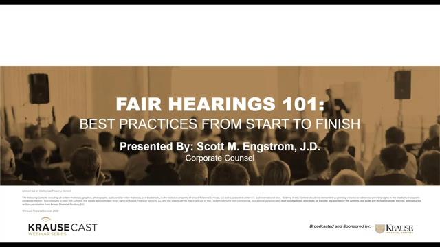 Fair Hearings 101