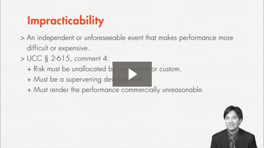 When There Is No Way to Perform: Impossibility, Impracticability, and Frustration of Purpose