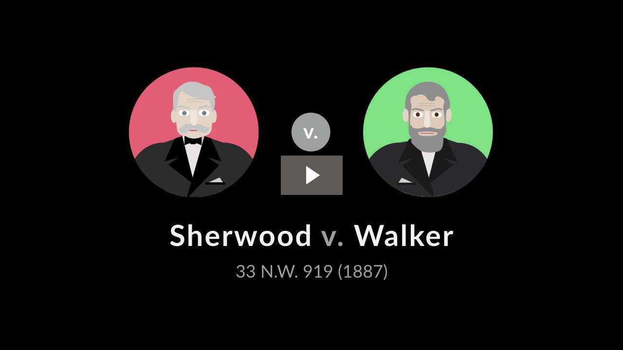 Sherwood v. Walker
