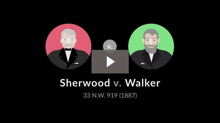 Sherwood v. Walker
