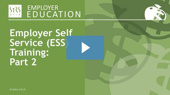Thumbnail for the 'ESS Training Webinar' video.