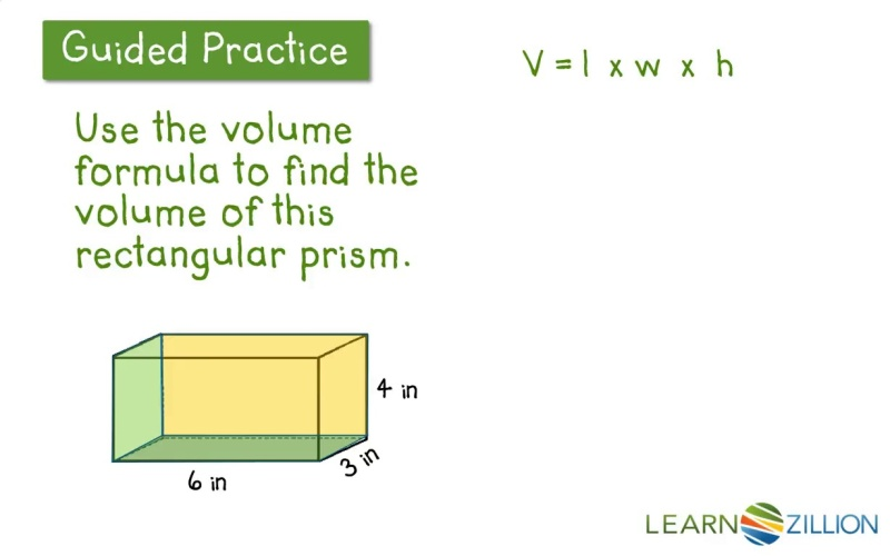 Use Multiplication V L X W X H To Find The Volume Of A Solid
