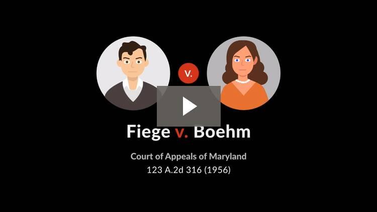 Fiege v. Boehm