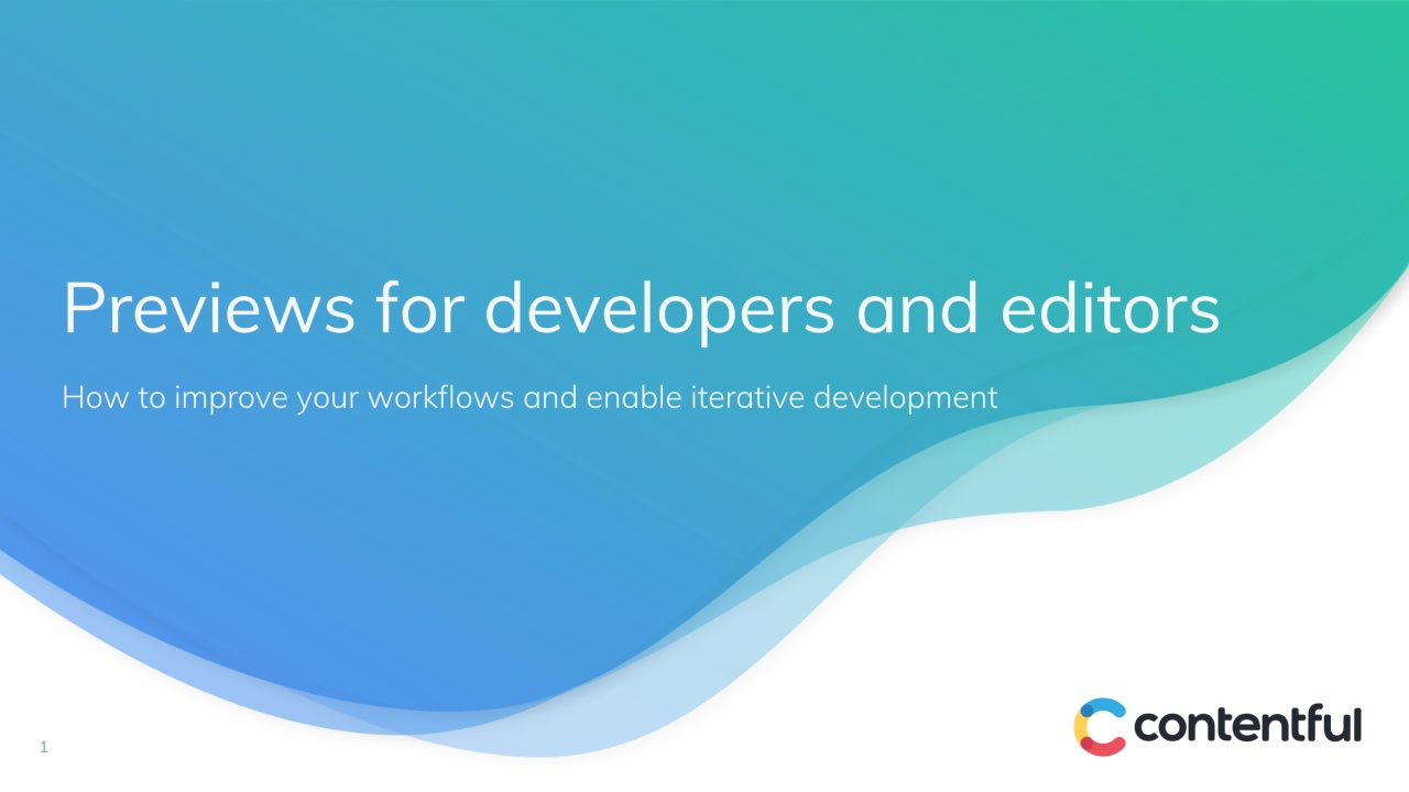 [2019-05-07] Previews for developers and editors