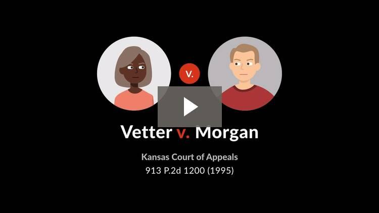 Vetter v. Morgan