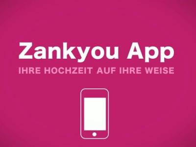 Zankyou Hochzeits-App mit Hochzeitsliste für iPhone und Android