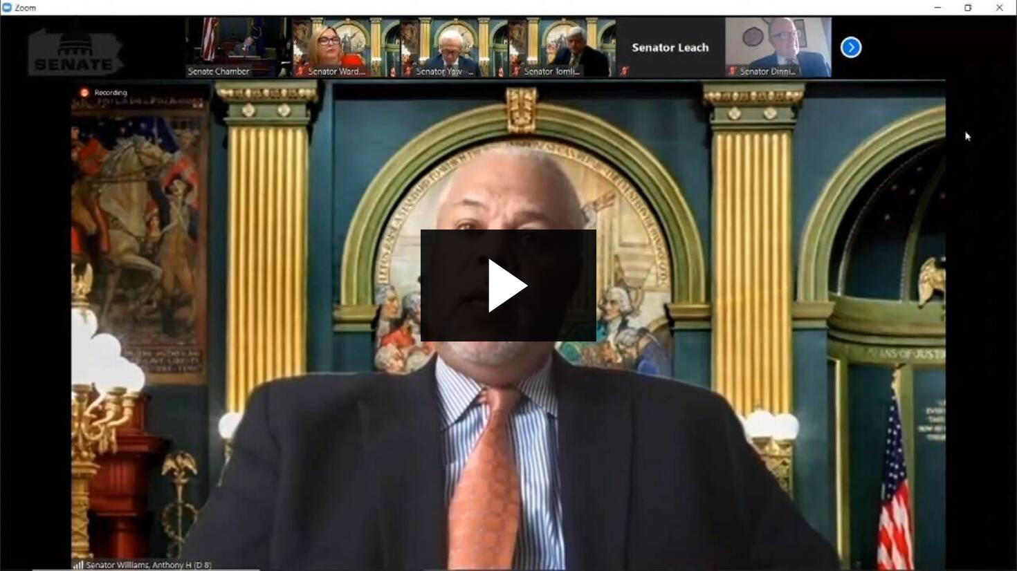 Senator Anthony H. Williams Remarks on Senate Bill 327 :: April 15, 2020