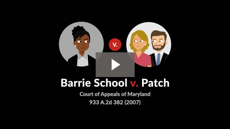 Barrie School v. Patch