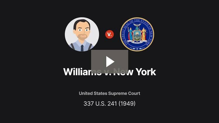 Williams v. New York