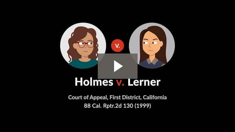 Holmes v. Lerner