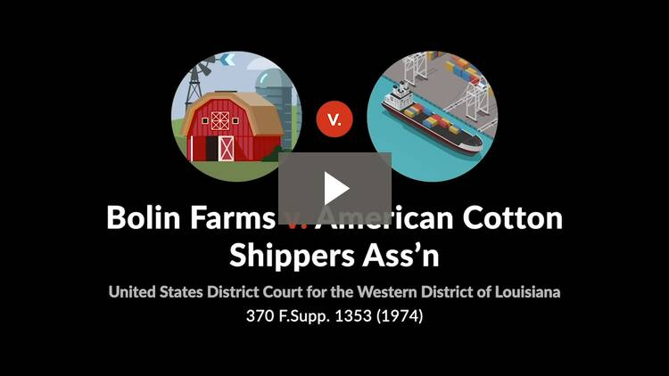 Bolin Farms v. American Cotton Shippers Association