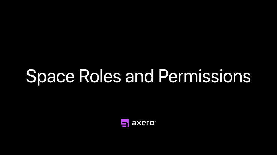 Space Roles and Permissions