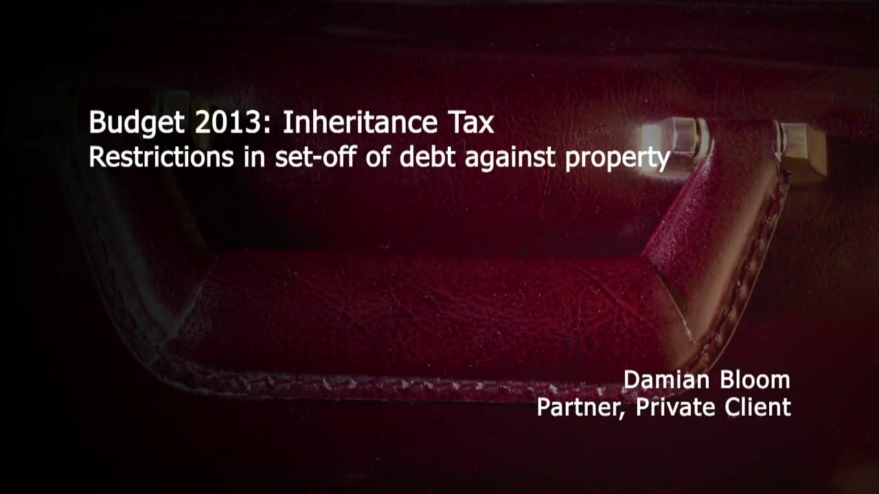 Still image from 'Inheritance tax shocks within the 2013 Budget' video