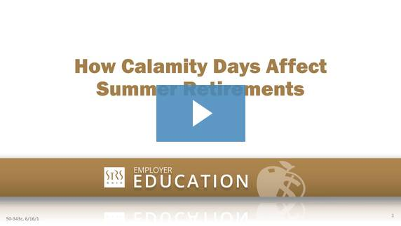 Thumbnail for the 'How Calamity Days Affect Summer Retirements' video.