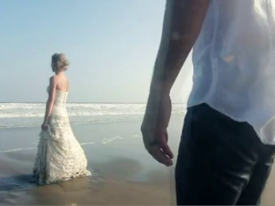 Trash the dress en la playa
