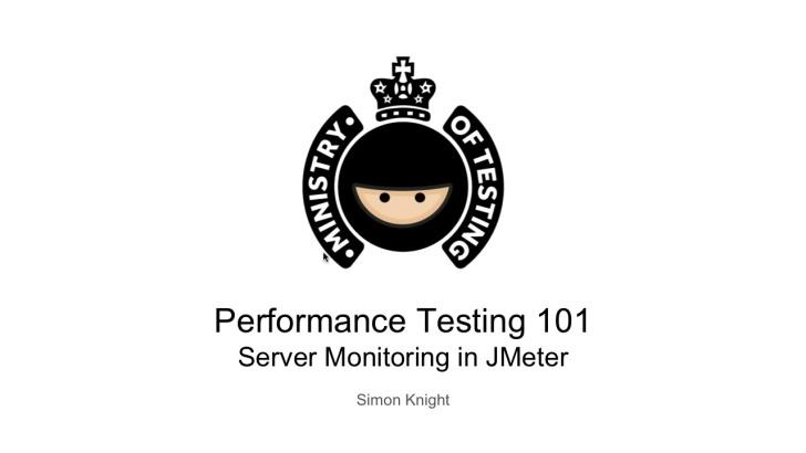 Server Monitoring in JMeter