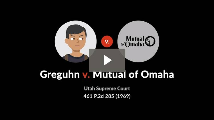 Greguhn v. Mutual of Omaha Insurance Co.