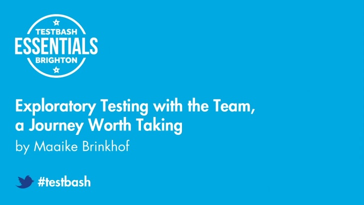 Exploratory Testing with the Team, a Journey Worth Taking with Maaike Brinkhof