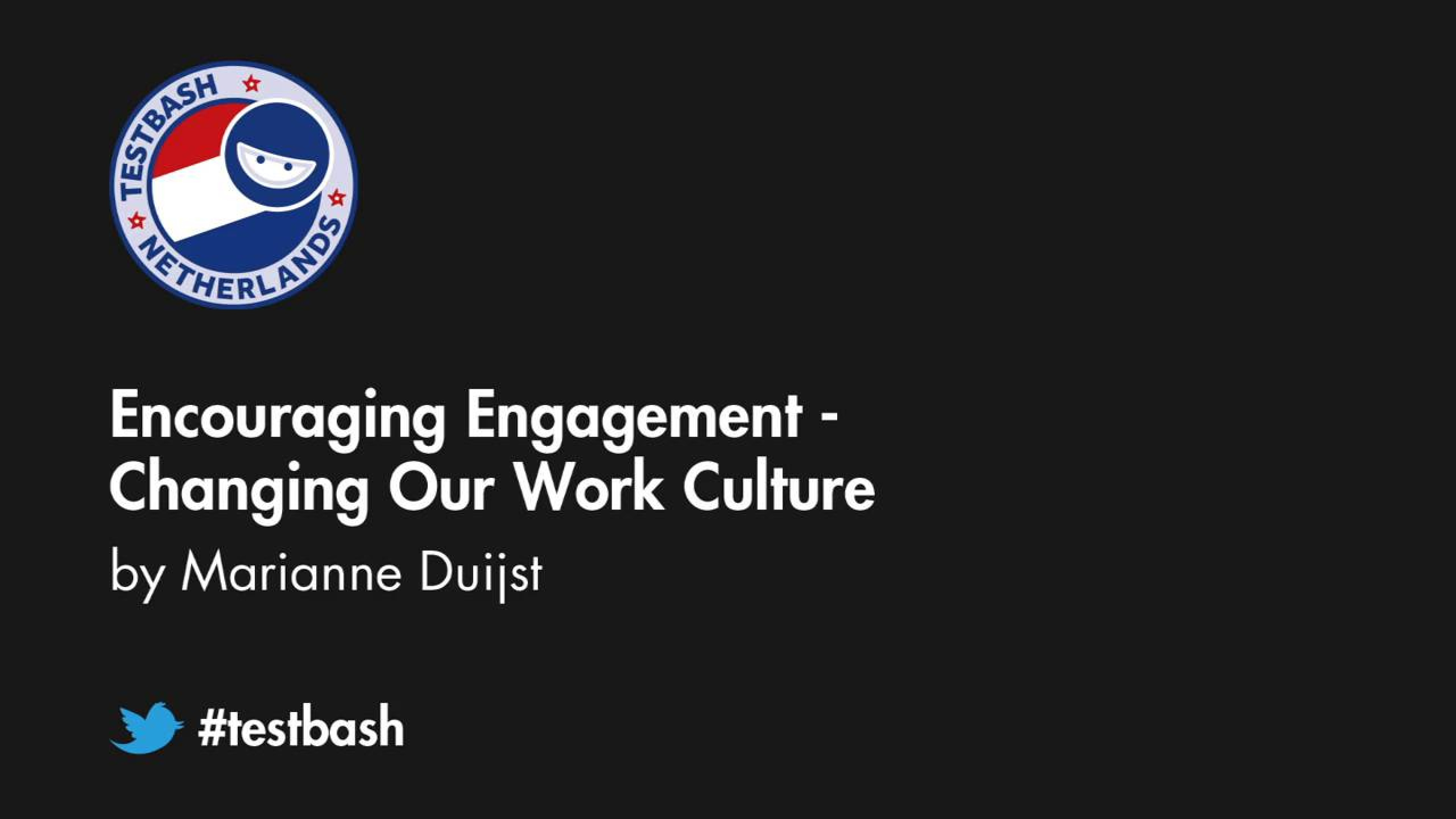 Encouraging Engagement: Changing Our Work Culture - Marianne Duijst