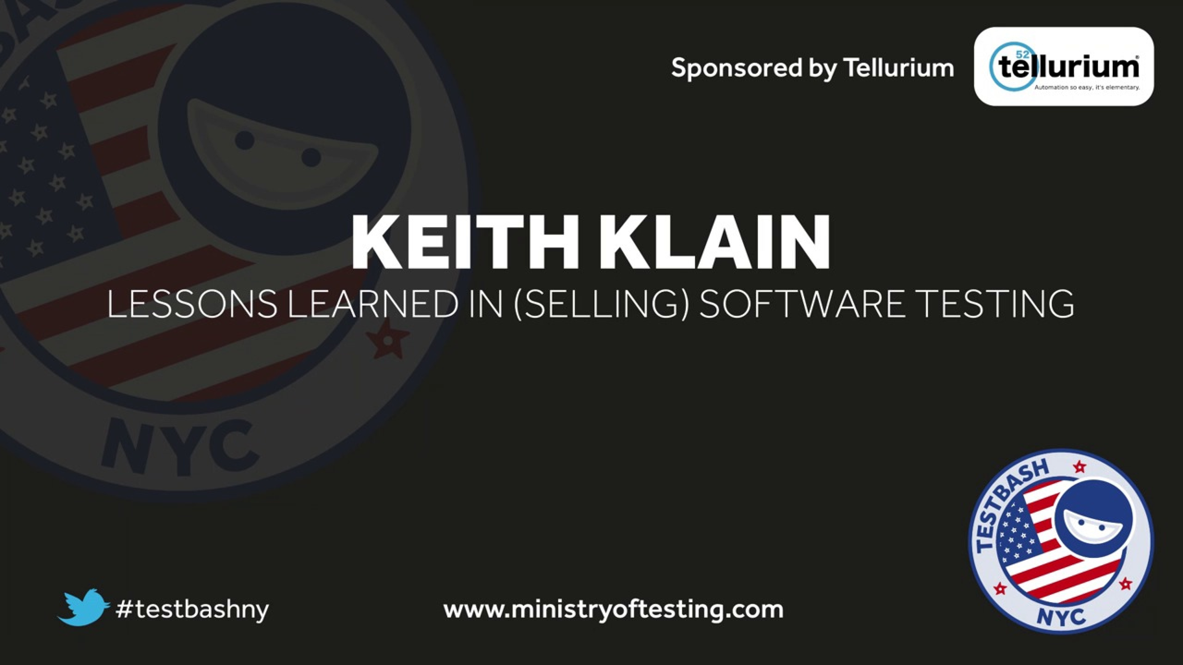 Lessons Learned in (Selling) Software Testing – Keith Klain