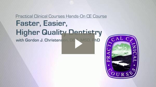 Faster, Easier, Higher Quality Dentistry