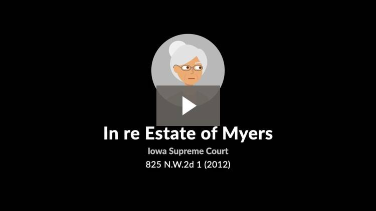 In re Estate of Myers