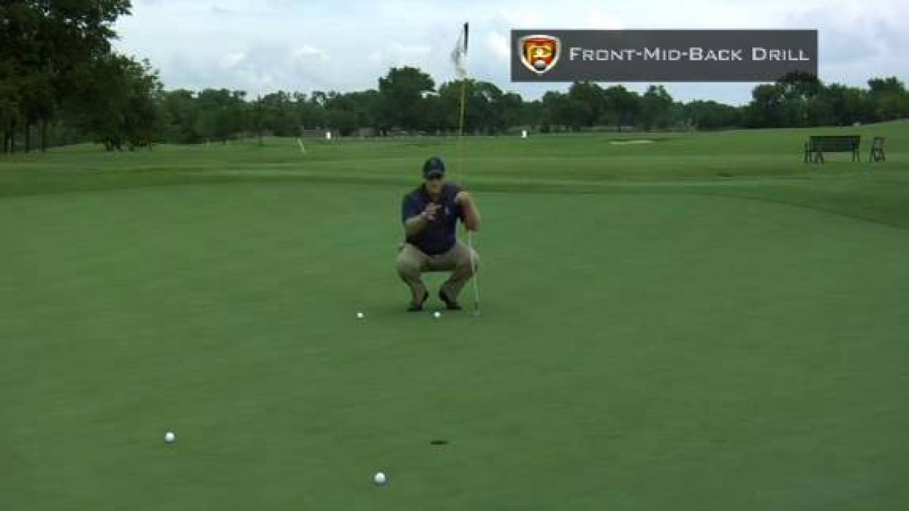 Putting Speed Drills: Front Middle Back