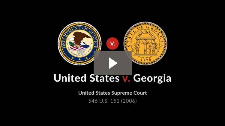 United States v. Georgia
