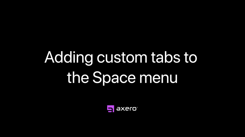 Adding custom tabs to the Space menu