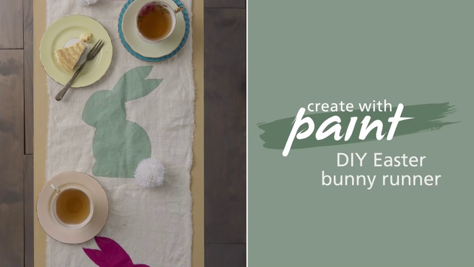 DIY Easter Bunny Runner