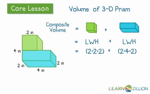 Find the volume of complex rectangular prisms | LearnZillion