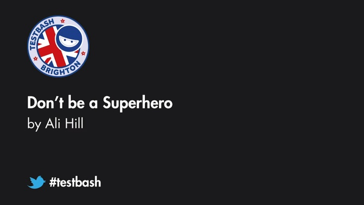 Don't be a Superhero - Ali Hil