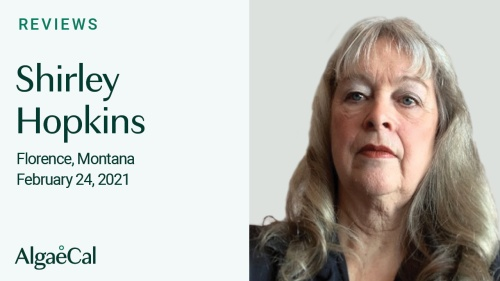 Testimonial thumbnail portrait of Shirley Hopkins