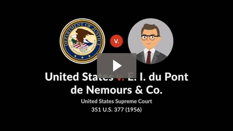 United States v. E. I. du Pont de Nemours & Co.