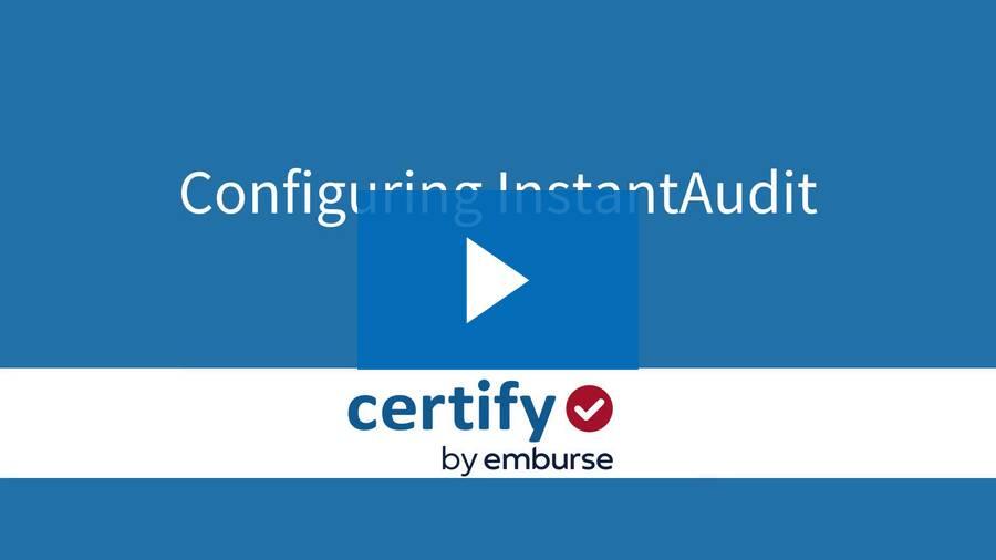 Configuring InstantAudit