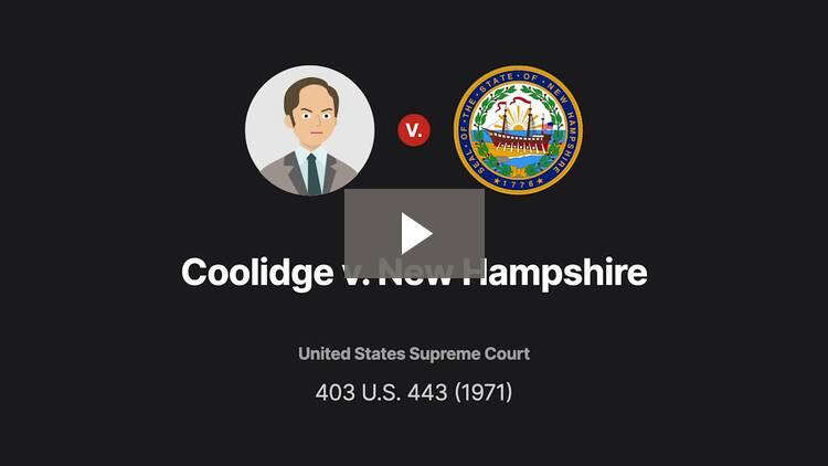 Coolidge v. New Hampshire