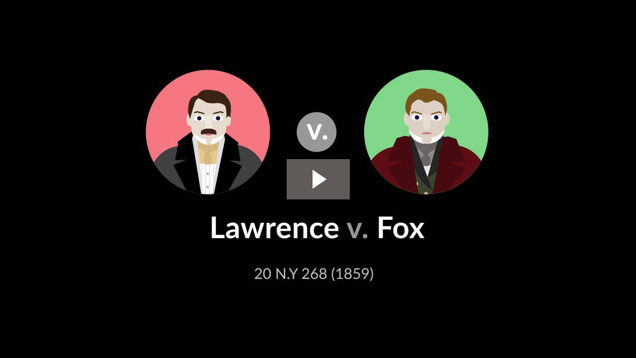 Lawrence v. Fox
