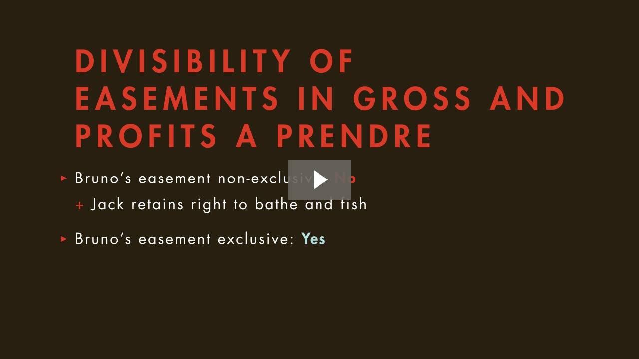 Scope of Easements