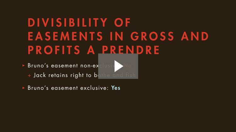 Scope of Easements