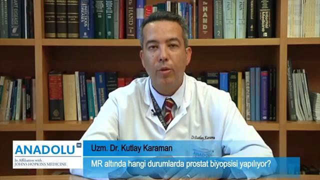 MR altında hangi durumlarda prostat biyopsisi yapılıyor?