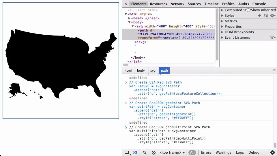 D Geo Path DashingDjscom - How to create us map with d3