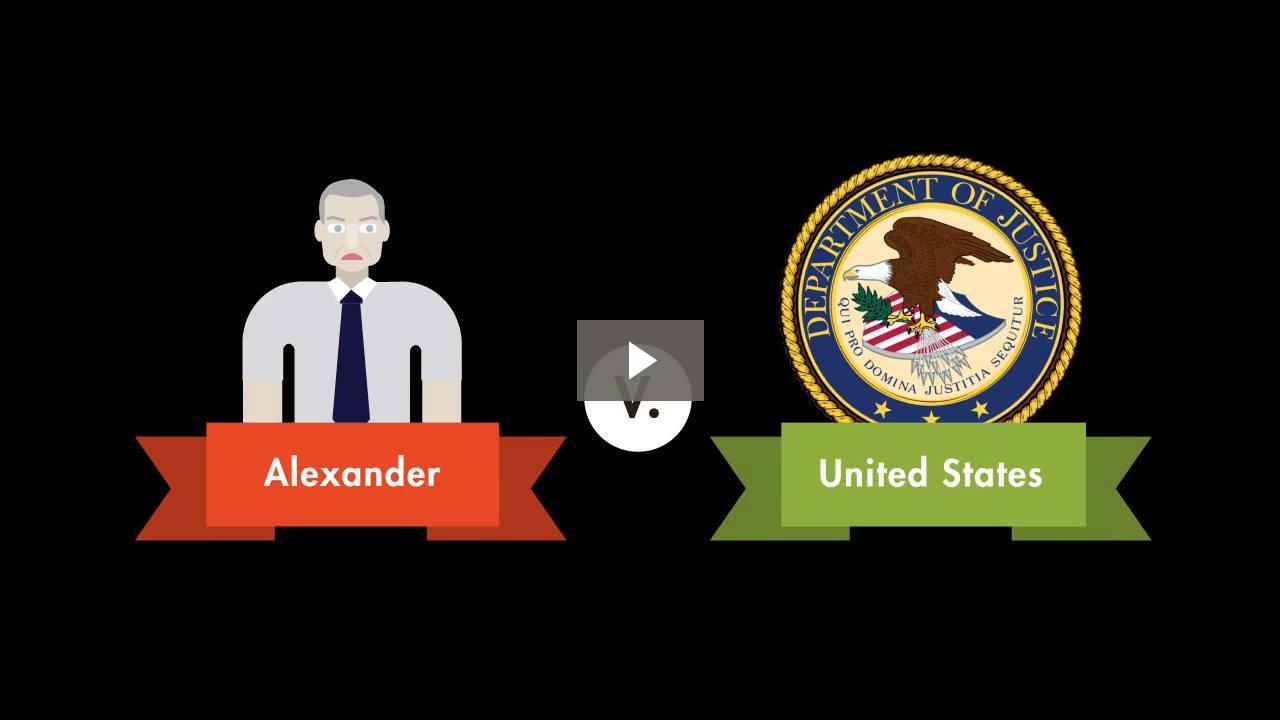 Alexander v. United States